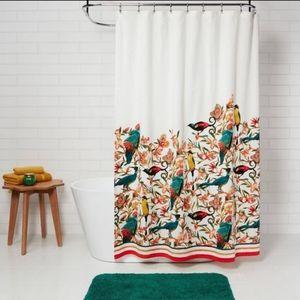 Opalhouse floral bird shower curtain NEW
